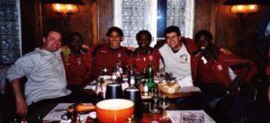 Z.B. Fanclub-Hock mit der ganzen Mannschaft (hier in Bern)